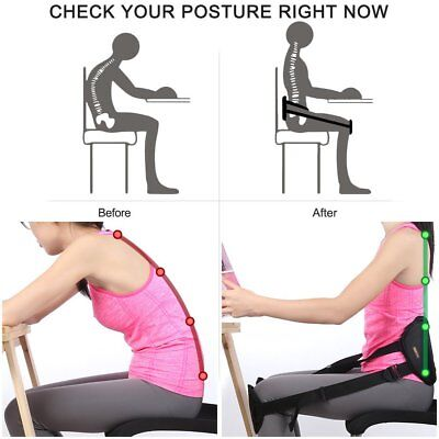 Theraphy Adjustable Waist Protect Knee Sitting Lower Back Support Lumbar Belt C