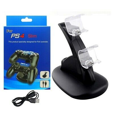 Dual Controller USB Charging Dock Fast Charger For Sony PS4 Pro Slim