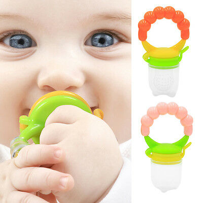 AM_ EG_ Portable Silicone Baby Toddler Food Feeder Teether Pacifier Feeding Tool