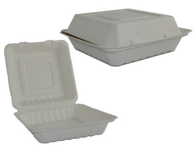 55 Lunchboxen Menüboxen Zuckerrohr (Bagasse) Food to go 240 x 240 mm (703209)