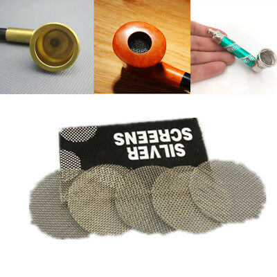 100pcs Hookah Water Pipe Metal Filters Smoke Pipes Screen Gauze Multifunctional