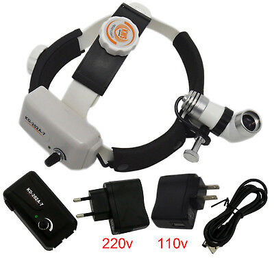3W KD-202A-7 Dental Surgical Medical Lamp Surgery LED Headlight ENT CE+ Adapter