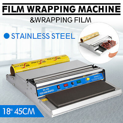 """18"""" Food Tray Film Wrapper Wrapping Machine W/Film Fruit Cling Frozen PRO"""