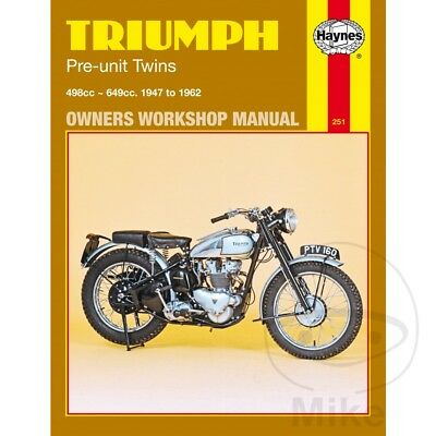 English Repair Manual For Triumph 5T 500 Speed Twin 1947-1958