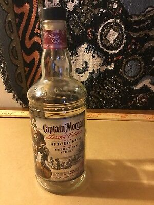Captain Morgan LIMITED EDITION SHERRY OAK FINISH Spiced Rum Empty Bottle 750ml
