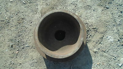 Bygone Double Flat Belt Pulley Approx 10 X 3 1/2 Inch 7 X 3 1/2 Inch