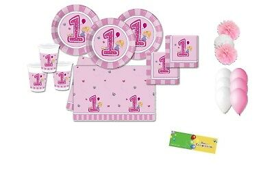 Kit N 49 1 Anno Girls First Primo Compleanno Bambina Party Festa