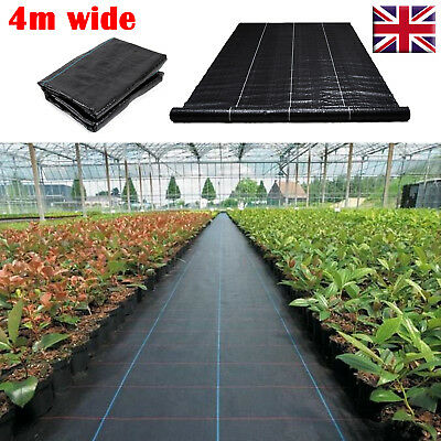 Heavy Duty 4m 100gsm Ground Cover Weed Control Fabric Membrane Driveway Mulch UK