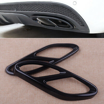2pcs Exhaust Tip Pipe Cover Trim for Mercedes Benz CLA 2016-2017 Tail Muffler