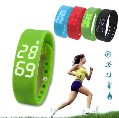 Kids Fitbit Style Activity Tracker Pedometer Sport Step Counter Fitness Watch