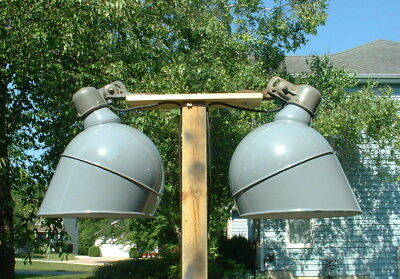 "1-18"" Westinghouse Gray Porcelain Gas Station Parking Lot Light Industrial Vtg"