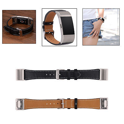 Replacement Wrist Band Genuine Leather Watch Band Strap for Fitbit Charge 2 new