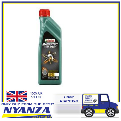 1L Car Engine Oil 1 Litre 5W30 C2 Fully Synthetic - Castrol Magnatec Stop-Start
