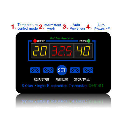 AM_ 12/220V Digital Thermostat Temperature Controller Meter Regulator XH-W1411 H