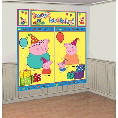 Peppa Pig Scene Setter (5 Total Pieces) by Amscan (B4p)