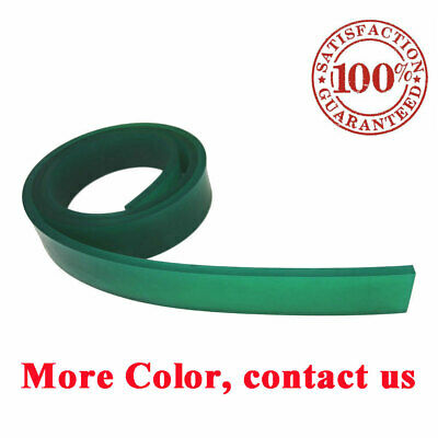 "Green Screen Printing Squeegee Single 50mm x 9mm x 6FT(72"") Roll 70 Duro"