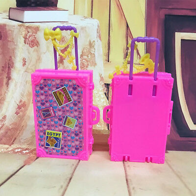 AM_ EG_ Plastic Travel Box for Barbie Doll DIY Children Pretend Play Furniture T