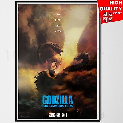 Godzilla King of the Monsters Movie Poster Comic Con  | A4 A3 A2 A1 |