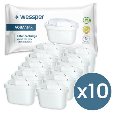 10x Wessper® AQUAMAX alternative Brita Maxtra Wasserfilter Filter Kartuschen