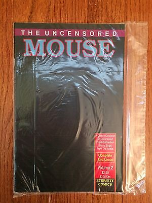 """1989 Eternity Comics (Disney) """"THE UNCENSORED MOUSE"""" (SECOND ISSUE), #2, RARE!"""