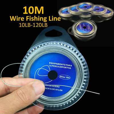 AM_ JF_ 10M 7 Strands Braid 10LB-120LB Stainless Steel Wire Strong Fishing Line