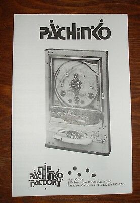 Nishijin Super Deluxe pachinko machine operating and instruction manual