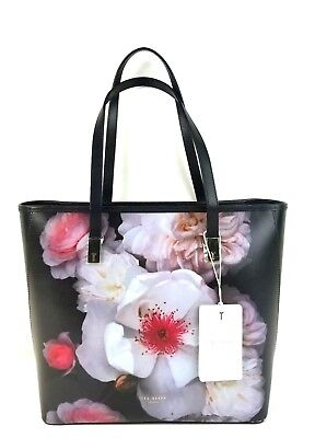 f4b386d8ff36 TED BAKER TOTE Small Chelsea Shopper Tote (Black Floral) -  135.00 ...