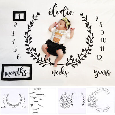 AM_ Newborn Baby Infants Milestone Blanket Mat Photography Prop Monthly Growth P