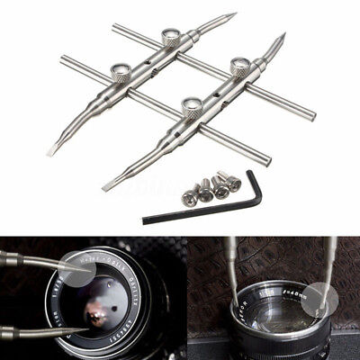 AM_ Durable Stainless Steel DSLR Camera Lens Repair Kit Spanner Wrench Open Tool