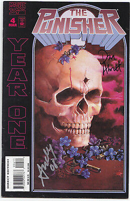 The Punisher Year One #4 | Marvel Comic | 1995 | SIGNED Dan Abnett Andy Lanning