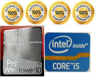 1 x Pr0 Window 10 Silver Logo Sticker Decals & Free Intel Inside Core i5 Desktop