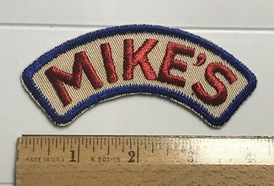 "Mike's Red White Blue Company Advertising Logo 4"" Wide Embroidered Patch"