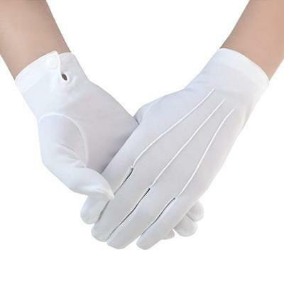 NEW White Nylon Gloves Marching Band Jeweler Color Guard Police Formal Tuxedo