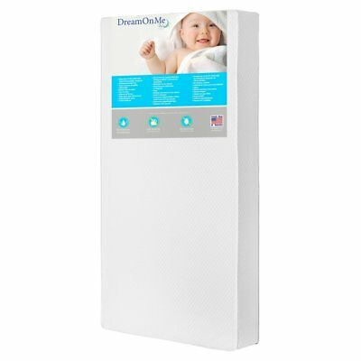 Dream On Me Lavender 6 in. 2 in 1 Foam Core Crib and Toddler Bed Mattress