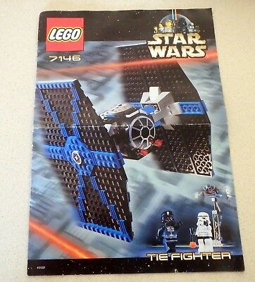 Lego Star Wars Instruction Manual Book Only 7146 Tie Fighter
