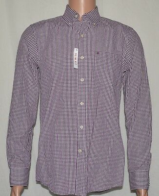 IZOD #6321 NEW Mens Sz Small Slim Fit Button-Front 100% Cotton Long Sleeve Shirt
