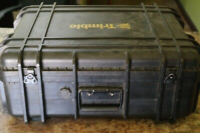 Trimble Black Pelican Case **used**free Shipping**