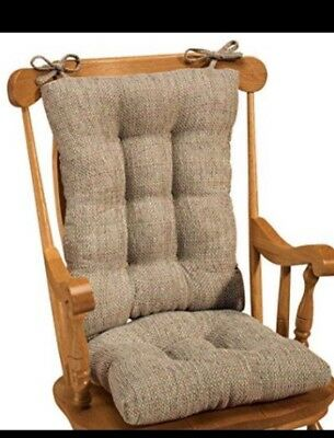 Rocking Chair Seat And Back Cushion Set Beige Tan Excellent