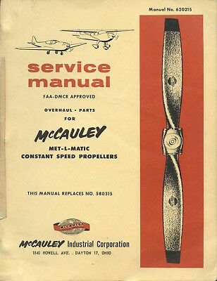 SEERVICE MANUAL - McCAULEY MET-L-MATIC CONSTANT SPEED PROPELLERS