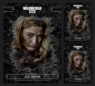 3x JESSIE ANDERSON-ECHOES-BLACK-TOPPS WALKING DEAD CARD TRADER