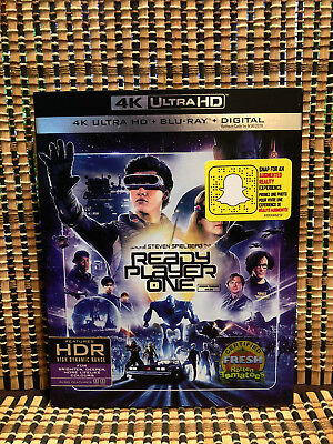 Ready Player One 4K (2-Disc Blu-ray, 2018)+Slipcover.Spielberg/Ernest Cline