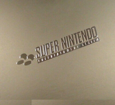 1 x Super Nintendo ententainment System sticker Logo Decal  45mm x 9 Approx