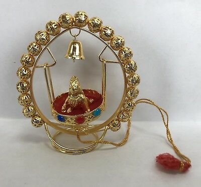 Small Krishna swing / jhoola In Brass 3 Inches Height Light Wright USA Seller