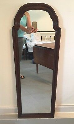 "Ethan Allen Georgian Court Solid Cherry Hanging Wall Mirror 42.5"" Tall"