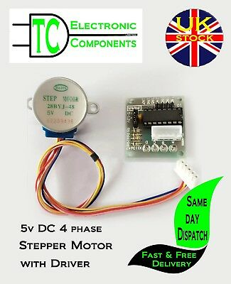 5V Stepper Motor 28BYJ-48 with ULN2003 Driver Controller  **UK SELLER** Free P&P