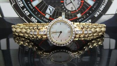 Citizen Eco Drive Mother of Pearl Dial Gold Tone Crystal Accented Women's Watch