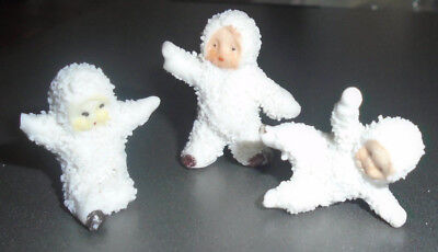 """Antique German Miniature Snow Baby Doll Lot Sitting with Arms Out 1"""" Babies"""