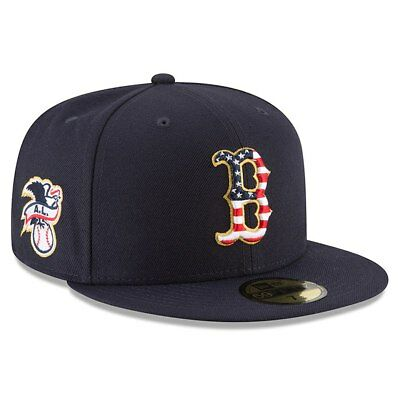 960173621b7 BOSTON RED SOX New Era 2018 Stars   Stripes 4th of July 59FIFTY Fitted Hat- Blue -  39.99