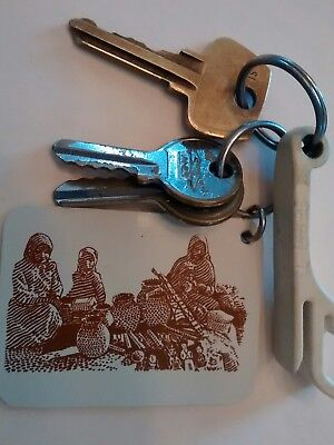 Vintage Hotel Abanas Copper Canyon Mexico Keys Fob & Opener Great Graphics RARE