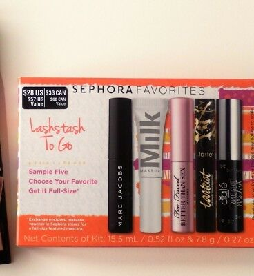 d53c7692947 Sephora Favorites LashStash To Go 5 Mini Sample Trial Size Mascara + read  NIB